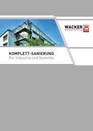 Komplett-Sanierung für Industrie und Gewerbe - Wacker Sanierung