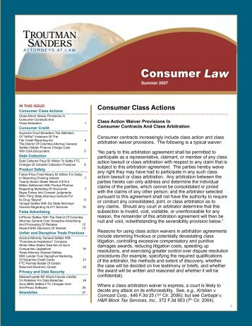 Summer 2007 Newsletter - Troutman Sanders LLP