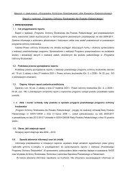 """Raport z realizacji"""" Programu Ochrony Środowiska dla Powiatu ..."""