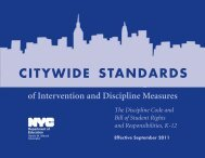 standards citywide - New York City Department of Education - NYC ...