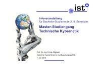 Master-Studiengang Technische Kybernetik