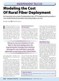 Modeling the Cost Of Rural Fiber Deployment - Broadband Properties