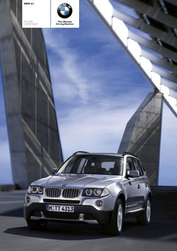 The BMW X3 2.0d - Sunriseleasing.co.uk