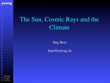 The Sun, Cosmic Rays and the Climate