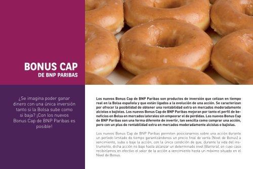 Catálogo Bonus Cap - BNP Paribas
