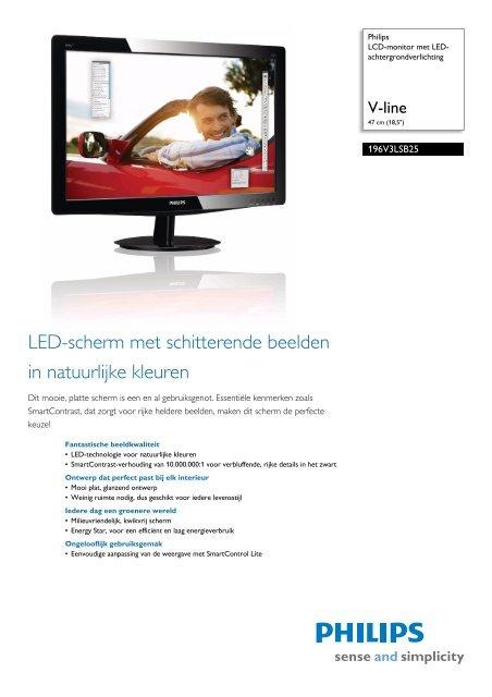 196V3LSB25/00 Philips LCD-monitor met LED-achtergrondverlichting
