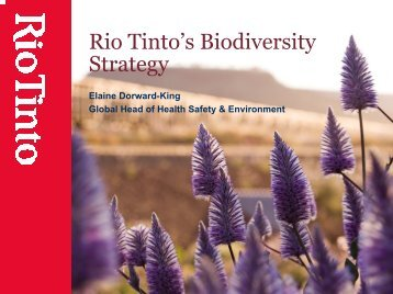Rio Tinto's Biodiversity Strategy - IUCN Knowledge Network