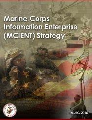 Marine Corps Information Enterprise Strategy (MCIENT)