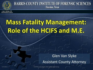 Mass Fatality Management - Harris County Public Health and ...