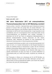 500 Jahre Reformation 2017 mit unterschiedlichen - germany.travel