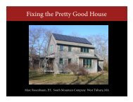 Fixing the Pretty Good House—EMERALD III - Efficiency Vermont