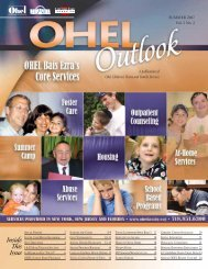Inside This Issue - Ohel Children's Home and Family Services