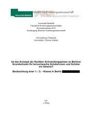 Ist das Konzept der flexiblen ... - Fehler/Fehler - Universität Bielefeld
