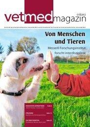 Von Menschen und Tieren - Veterinärmedizinische Universität Wien