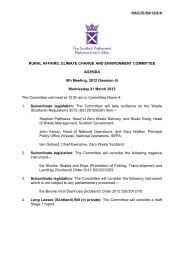 Papers for Meeting 21 March 2012 - Scottish Parliament
