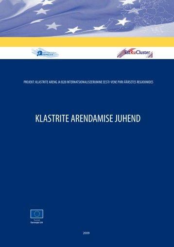 KLASTRITE ARENDAMISE JUHEND - Kohtla-Järve