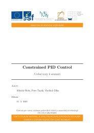 Constrained PID Control - Centrum pro rozvoj výzkumu pokročilých ...