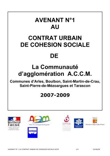 AVENANT N°1 AU CONTRAT URBAIN DE COHESION ... - ACCM