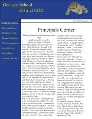 May 2009 - Genesee Joint School District #282
