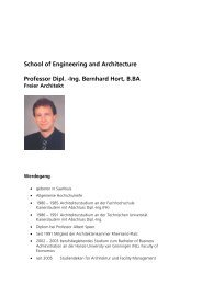 School of Engineering and Architecture Professor Dipl. -Ing ...