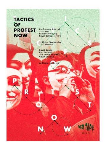 Tactics of Protest pre-reader - Tactical Media Files