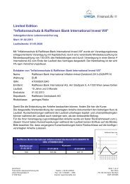 Inflationsschutz & Raiffeisen Bank International Invest VIII