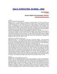 DALIT ATROCITIES IN INDIA - 2004 - Indian Social Institute