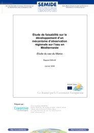 Etude de faisabilité sur le développement d'un mécanisme ... - emwis