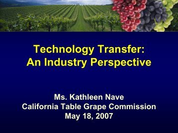 California Table Grape Commission - Federal Laboratory ...