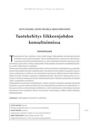 Paper (PDF) - LTA - Kauppakorkeakoulu