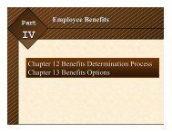 Chapter 12 -- Benefits - College of Business Administration