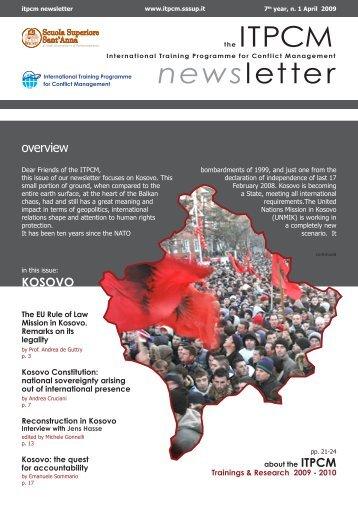 KOSOVO - April 2009 - ITPCM - Scuola Superiore Sant'Anna