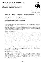 Merkblatt - Gesundes Knabberzeug - Tierhilfe Miltenberg e.V.
