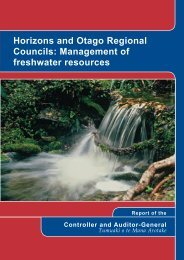 Horizons and Otago Regional Councils - INTOSAI – Working Group ...