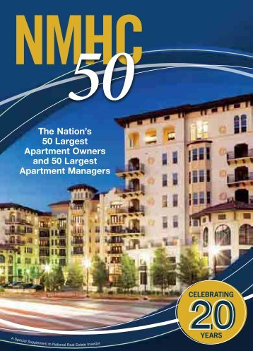 The Nation's 50 Largest Apartment Owners And 50 Largest