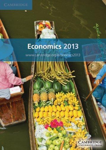 Economics 2013 - Cambridge University Press India