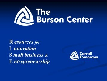 What is Business Incubation? - Carroll Tomorrow