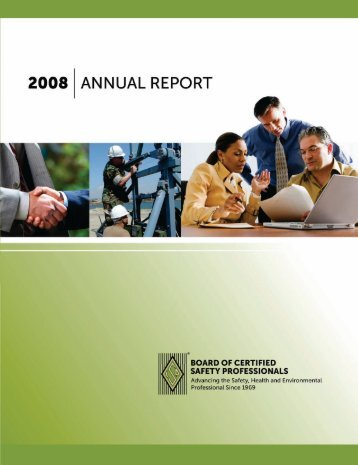 2008 Annual Report - Board of Certified Safety Professionals