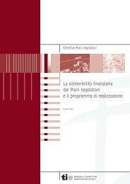 La sostenibilità finanziaria dei Piani regolatori e il programma di ...