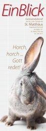 Horch, horch ... Gott redet! - Evangelisch-Lutherische Gemeinde St ...