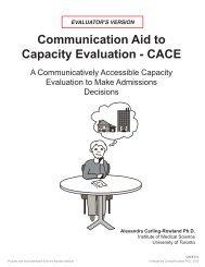 CACE Evaluator's Version - Aphasia Institute