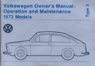 1973 Type 3 Owner's Manual - PDF - TheSamba.com