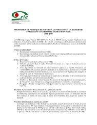 Politique - Centre de recherche sur l'intervention éducative (CRIE)