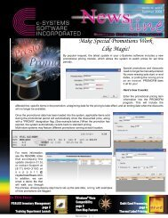 Make Special Promotions Work Like Magic! - c-Systems Software, Inc.