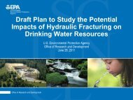 Draft plan to study the potential impacts of hydraulic fracturing