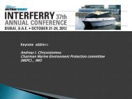 Green Issues in the Maritime Sector: New Business - Interferry