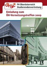 Einladung zum ÖH-Vernetzungstreffen 2009 - FH OÖ ...