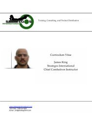 Curriculum Vitae James King Strategos International Chief ...