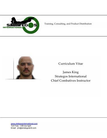 Curriculum Vitae Mark Warren Training Coordinator Strategos