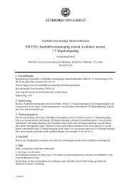 SW2393, Samhällsvetenskaplig metod, kvalitativ metod, 7,5 ...